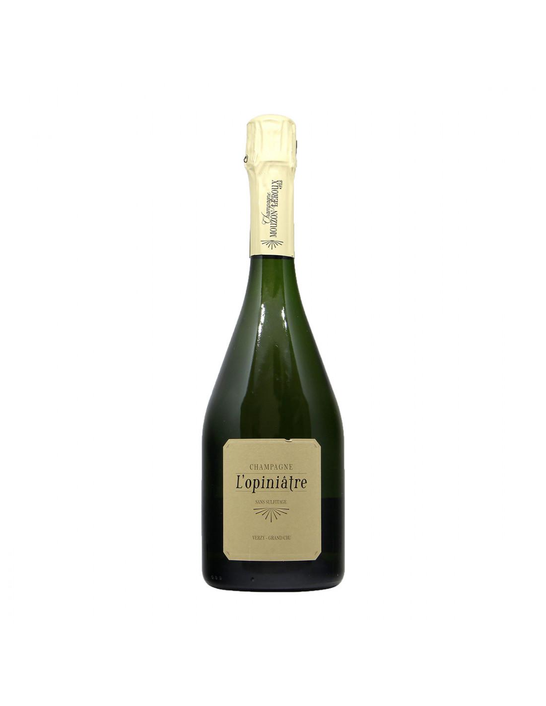 Mouzon Leroux Champagne Opiniatre Blanc Grand Cru Nature 2010 Grandi Bottiglie