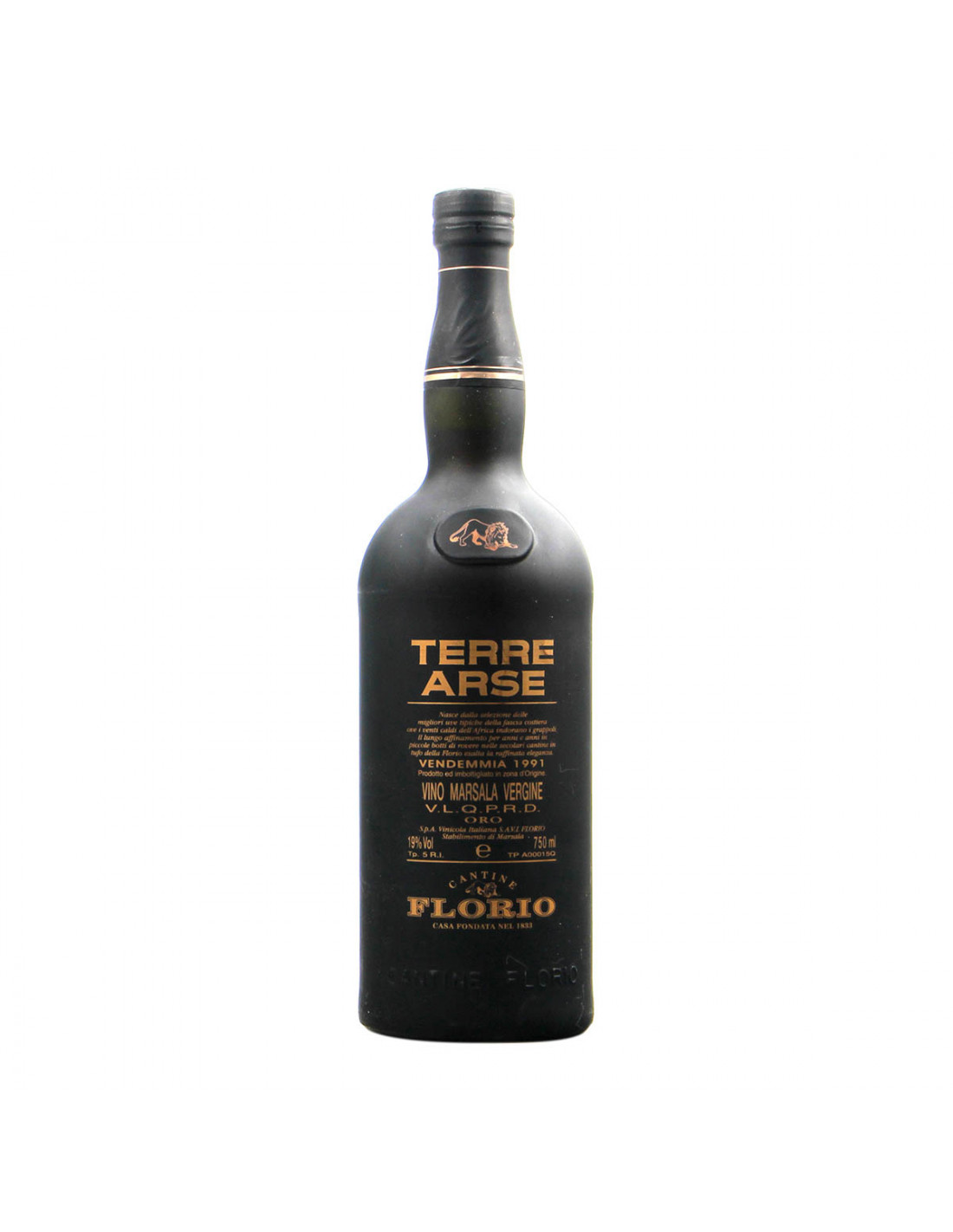 Florio Marsala Vergine Terre Arse 1991 Grandi Bottiglie