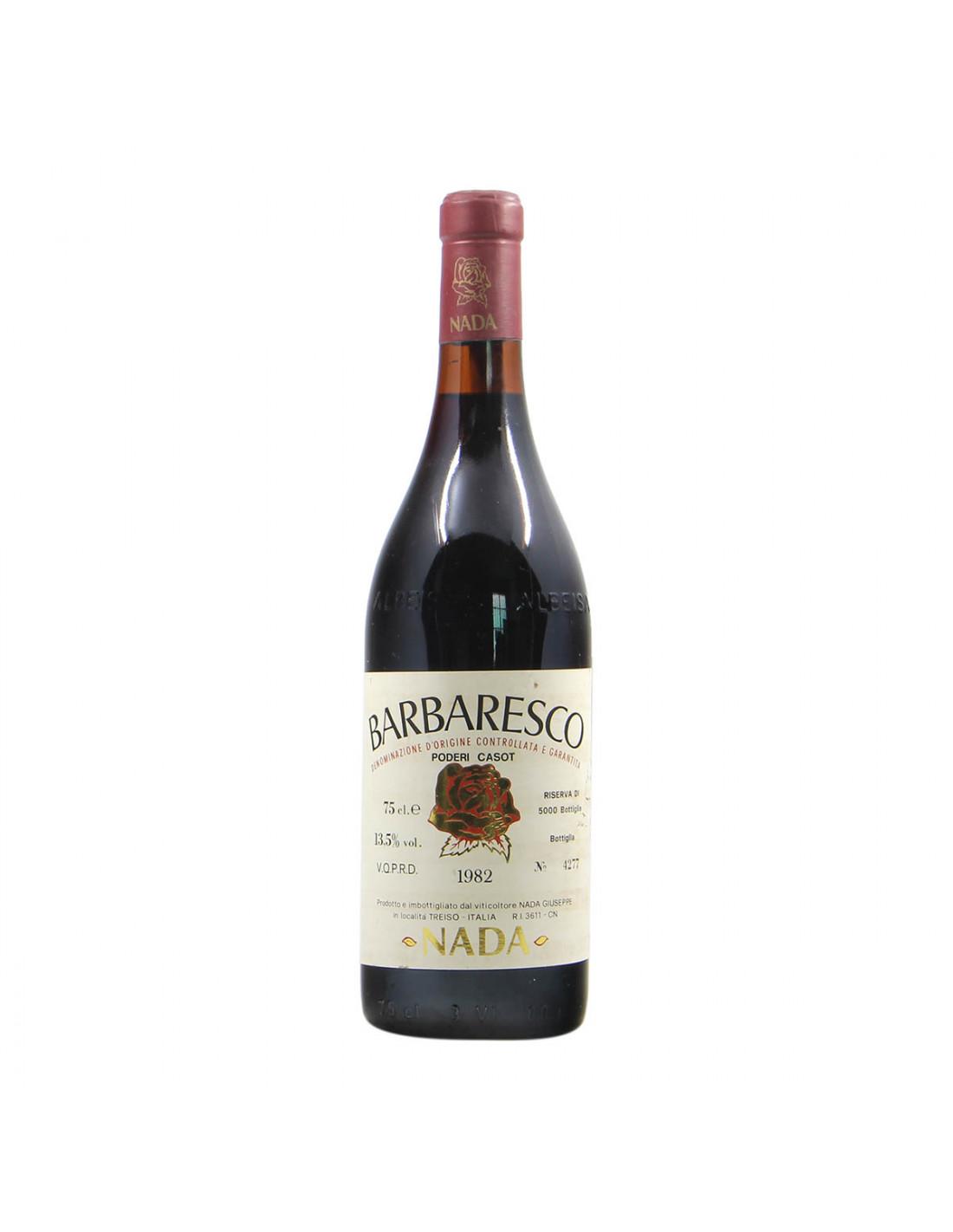 Nada Giuseppe Barbaresco Poderi Casot 1982 Grandi Bottiglie