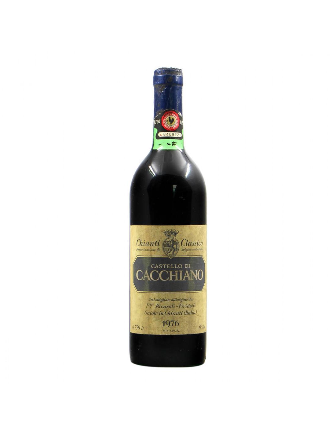 Barone Ricasoli Chianti Classico Castello di Cacchiano 1976 Grandi Bottiglie