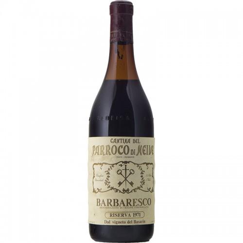BARBARESCO RISERVA BASARIN 1971 CANTINA DEL PARROCO DI NEIVE Grandi Bottiglie