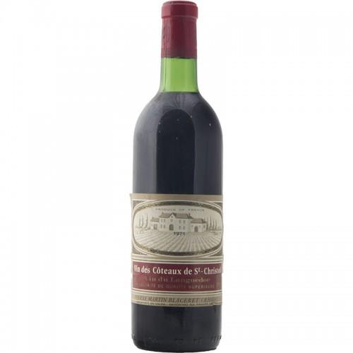 VIN DES COTEAUX DE ST CHRISTOL 1971 PIERRE MARTIN BLACERET Grandi Bottiglie