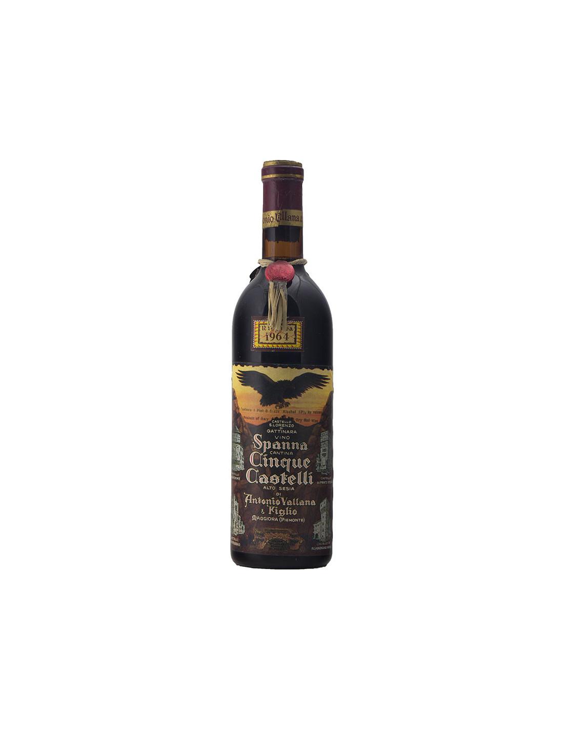 Cinque Castelli Antonio Vallana Spanna 1964 Grandi bottiglie