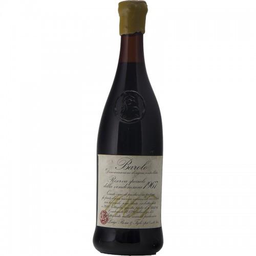 BAROLO RISERVA SPECIALE 1967 LUIGI BOSCA Grandi Bottiglie