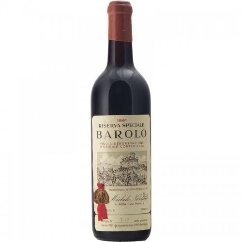 BAROLO RISERVA SPECIALE 1961 NICOLELLO Grandi Bottiglie
