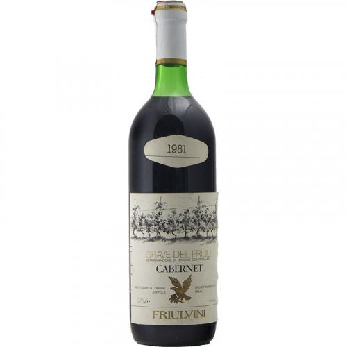 CABERNET 1981 FRIULVINI Grandi Bottiglie