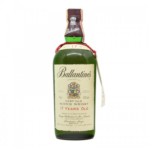 BALLANTINE'S VERY OLD SCOTCH WHISKY 17 YEARS OLD MATURED IN OAK CASK 43 1971 GEORGE BALLANTINE