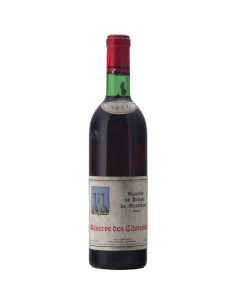 RESERVE DES CHANOINES 1971 VIGNOBLE DU PRIEURE' DE MONTFLEURY Grandi Bottiglie