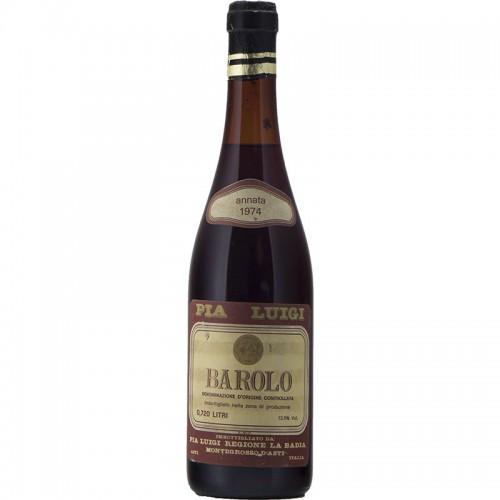 Barolo 1974 PIA LUIGI GRANDI BOTTIGLIE