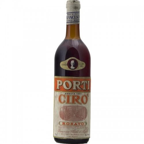 CIRO ROSATO 1981 FRANCESCO PORTI Grandi Bottiglie