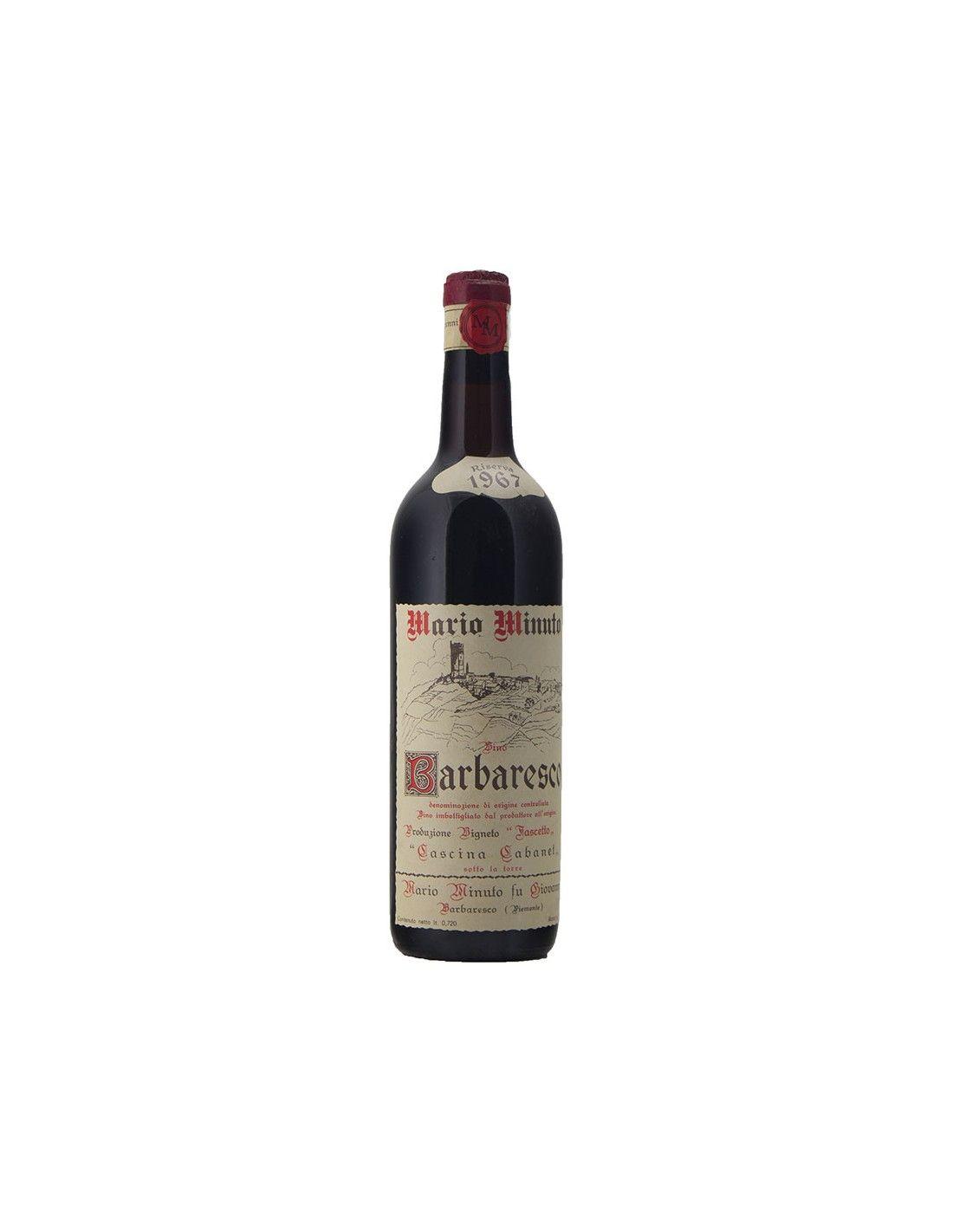 BARBARESCO RISERVA 1967 MARIO MINUTO FU GIOVANNI Grandi Bottiglie