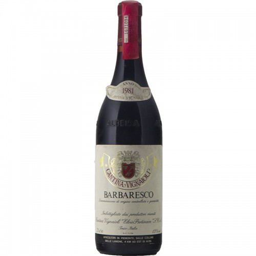BARBARESCO 1981 CANTINA VIGNAIOLI ELVIO PERTINACE Grandi Bottiglie