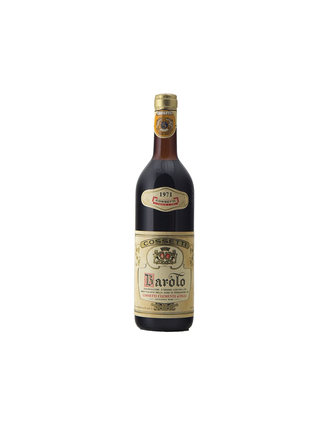 BAROLO 1971 COSSETTI CLEMENTE Grandi Bottiglie