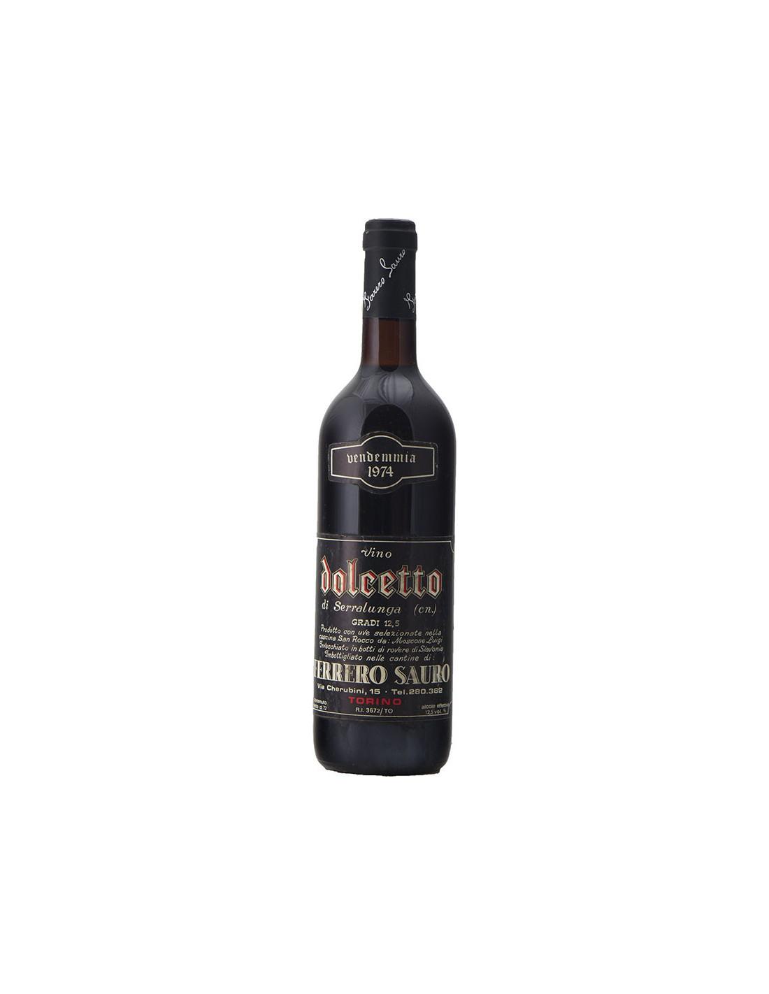 DOLCETTO 1974 FERRERO SAURO Grandi Bottiglie