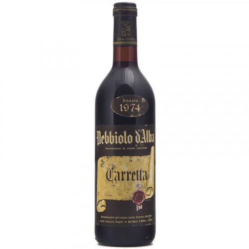 NEBBIOLO D'ALBA 1974 TENUTA CARRETTA Grandi Bottiglie
