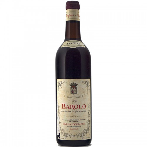 BAROLO 1970 SYLLA DOGLIANI Grandi Bottiglie