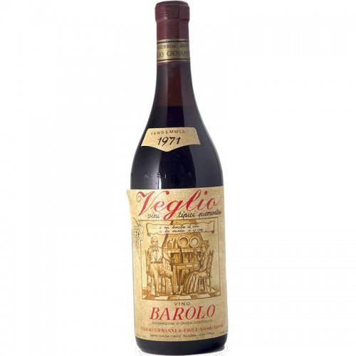 BAROLO 1971 VEGLIO GIOVANNI Grandi Bottiglie