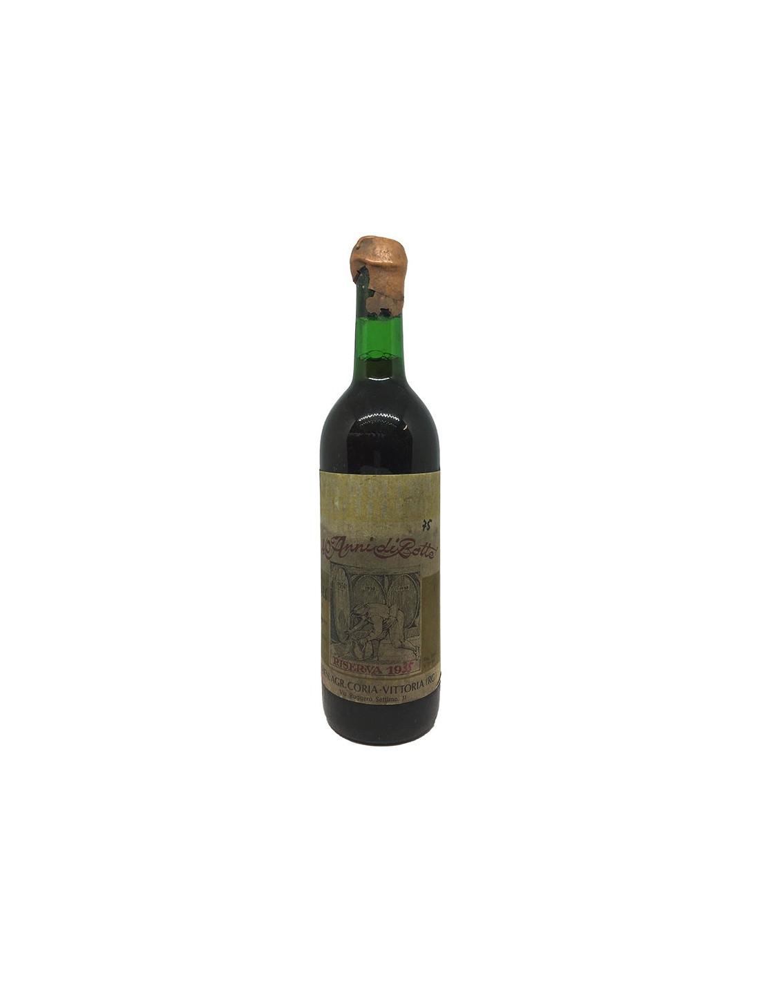 STRAVECCHIO SICILIANO RISERVA 1935 AZIENDA AGRICOLA CORIA Grandi Bottiglie