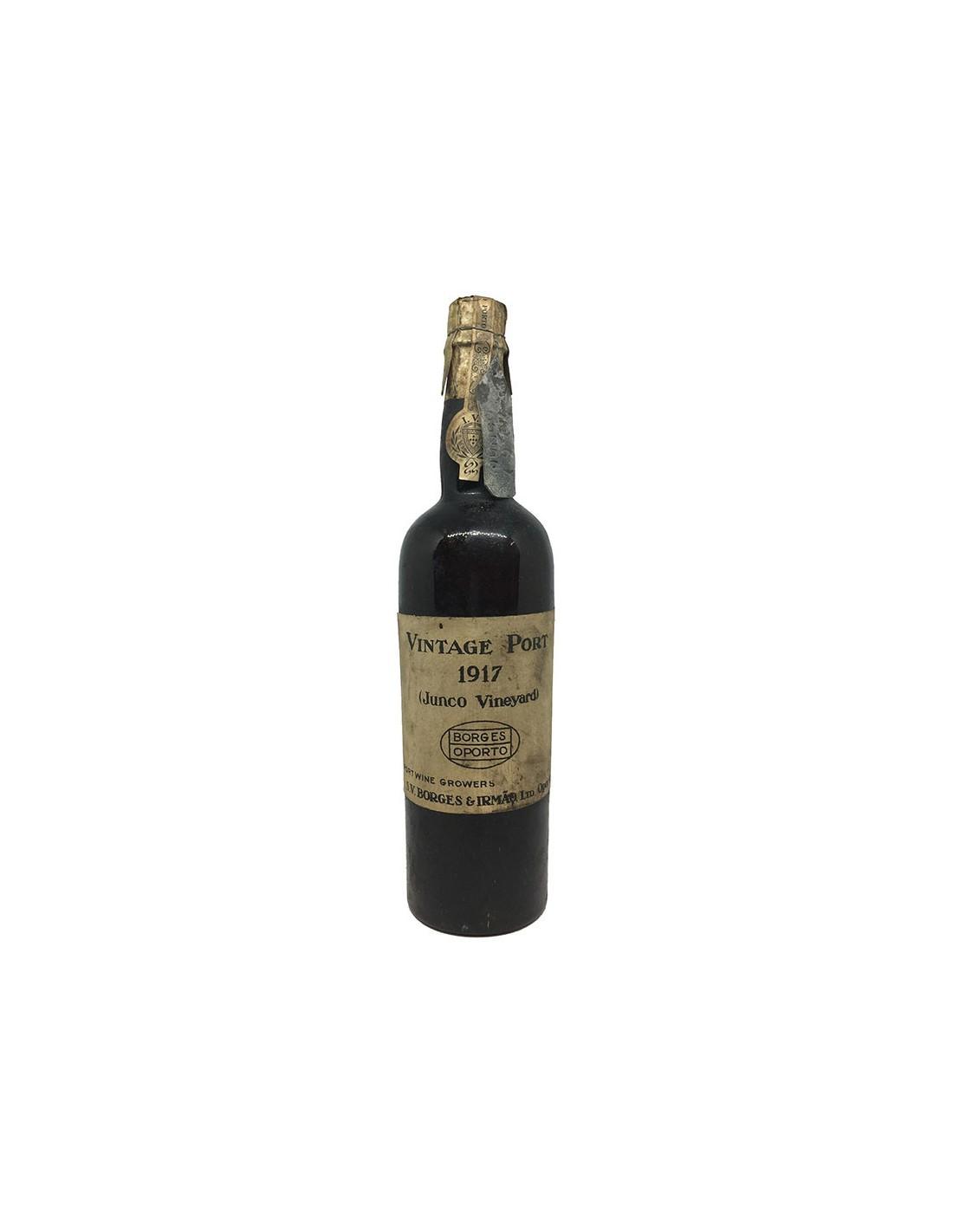 Vintage Porto Junco 1917 BORGES & IRMAO GRANDI BOTTIGLIE