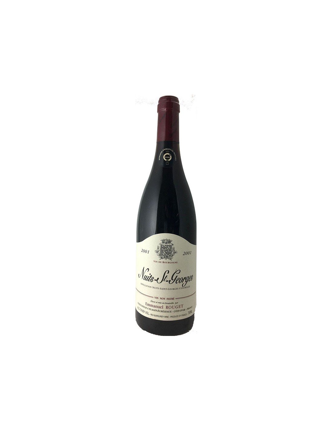 NUITS ST GEORGES RISERVA DI CANTINA 2001 ROUGET Grandi Bottiglie