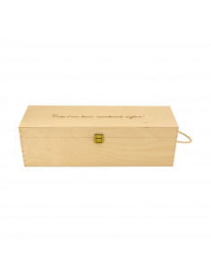 PERSONALIZED WOODEN WINE BOX - 1 DOUBLE MAGNUM BOTTLE - ILVA DOUBLE MAGNUM
