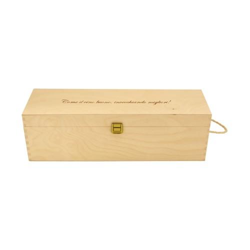 PERSONALIZED WOODEN WINE BOX - 1 DOUBLE MAGNUM BOTTLE - ILVA DOUBLE MAGNUM