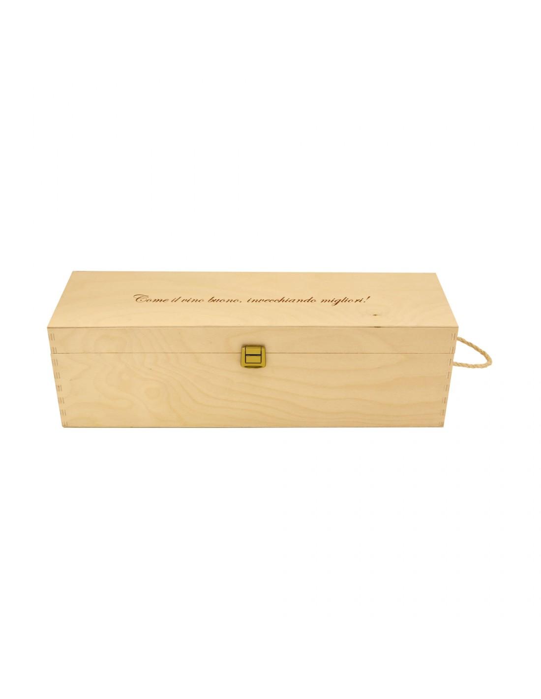 PERSONALIZED WOODEN WINE BOX - 1 MAGNUM BOTTLE - ILVA MAGNUM