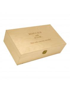 ILVA 2 - Cassetta vino personalizzata in legno per 2 bottiglie