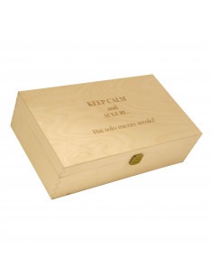 PERSONALIZED WOODEN WINE BOX - 2 BOTTLES - ILVA2