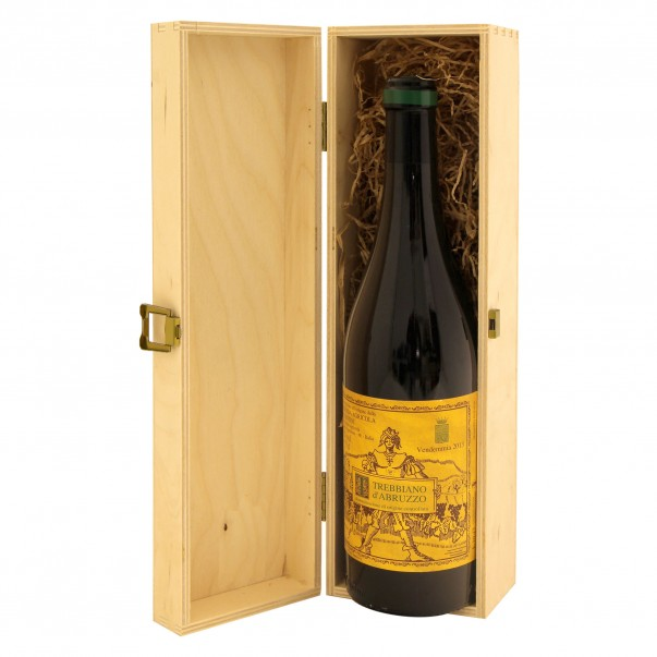 Cassetta in legno per vino personalizzata - 1 bottiglia - ilva WINE ATTACH Grandi Bottiglie