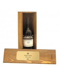 Cassetta in legno per vino personalizzata con targa per 1 bottiglia - ELISA