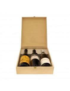 Cassetta in legno per vino personalizzata -  3 bottiglie - ILVA 3