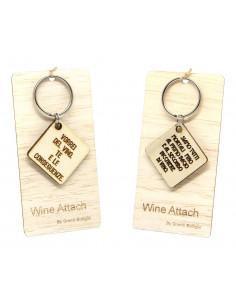 Portachiavi personalizzato in legno WINE ATTACH Grandi Bottiglie
