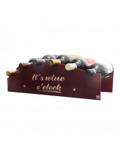 Portabottiglie vino personalizzabil in plexiglass - 6 bottiglie - leonardo WINE ATTACH Grandi