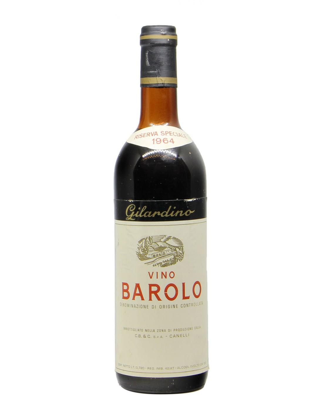 BAROLO RISERVA SPECIALE 1964 GILARDINO Grandi Bottiglie