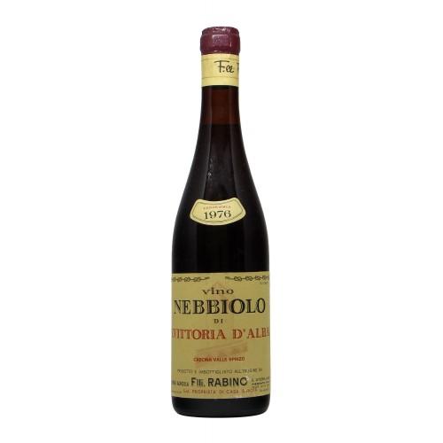 NEBBIOLO DI S.VITTORIA 1976 FRATELLI RABINO Grandi Bottiglie