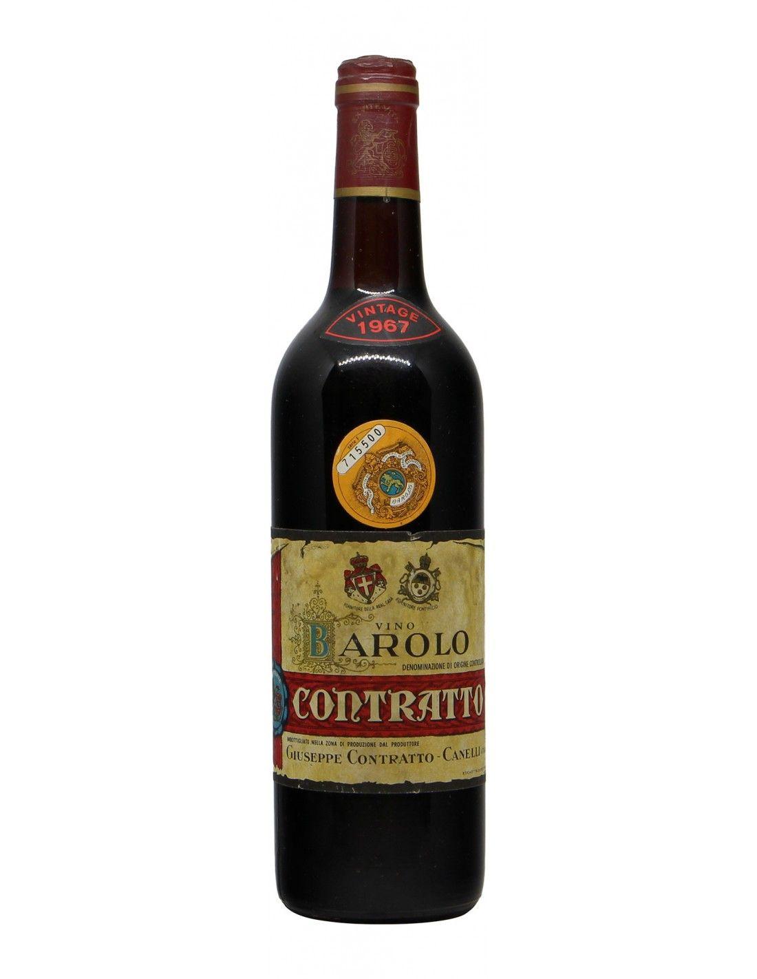 BAROLO 1967 CONTRATTO GIUSEPPE Grandi Bottiglie
