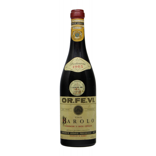 BAROLO 1963 OR.FE.VI. Grandi Bottiglie