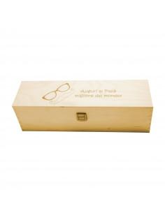 PERSONALIZED WOODEN WINE BOX - 1 BOTTLE - ILVA