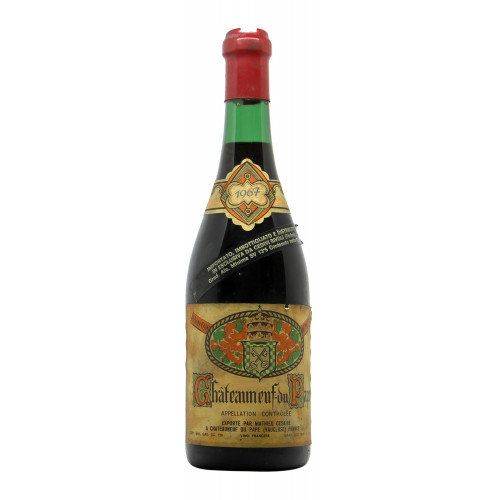 CHATEAUNEUF DU PAPE 1967 MATHIEU CESAIRE Grandi Bottiglie