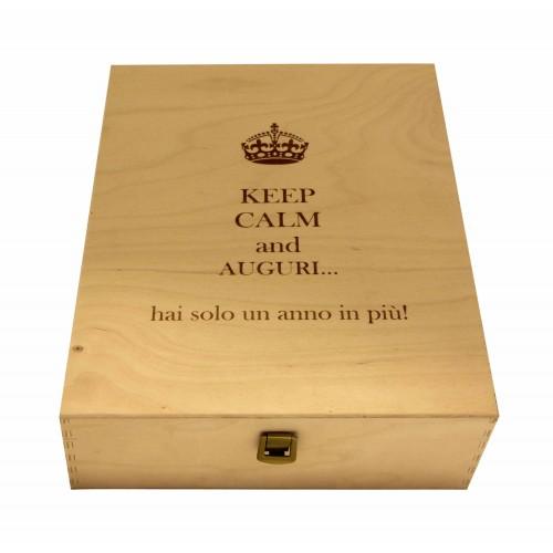 Cassetta in legno per vino personalizzata - 3 bottiglie - ilva3 WINE ATTACH Grandi Bottiglie