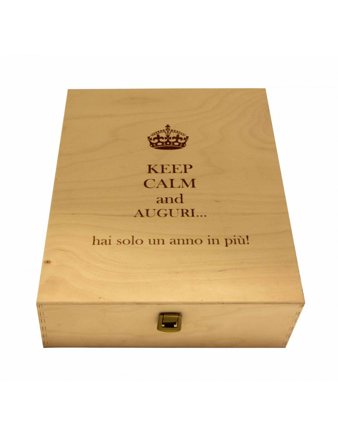 PERSONALIZED WOODEN WINE BOX - 3 BOTTLES - ILVA3