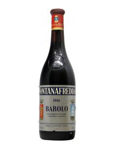 Barolo 1981 FONTANAFREDDA GRANDI BOTTIGLIE