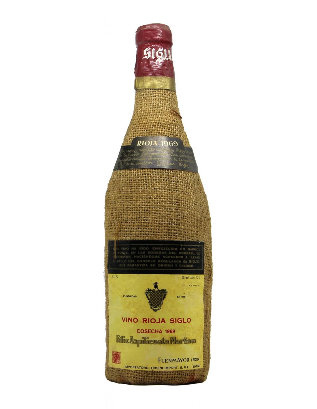 Rioja Siglo Cosecha 1969 FELIX AZPILICUETA MARTINEZ GRANDI