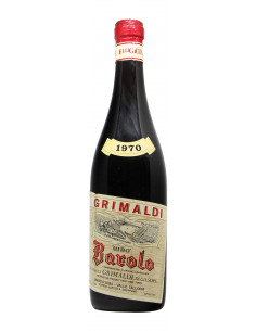 BAROLO 1970 GRIMALDI GIUSEPPE GRANDI BOTTIGLIE