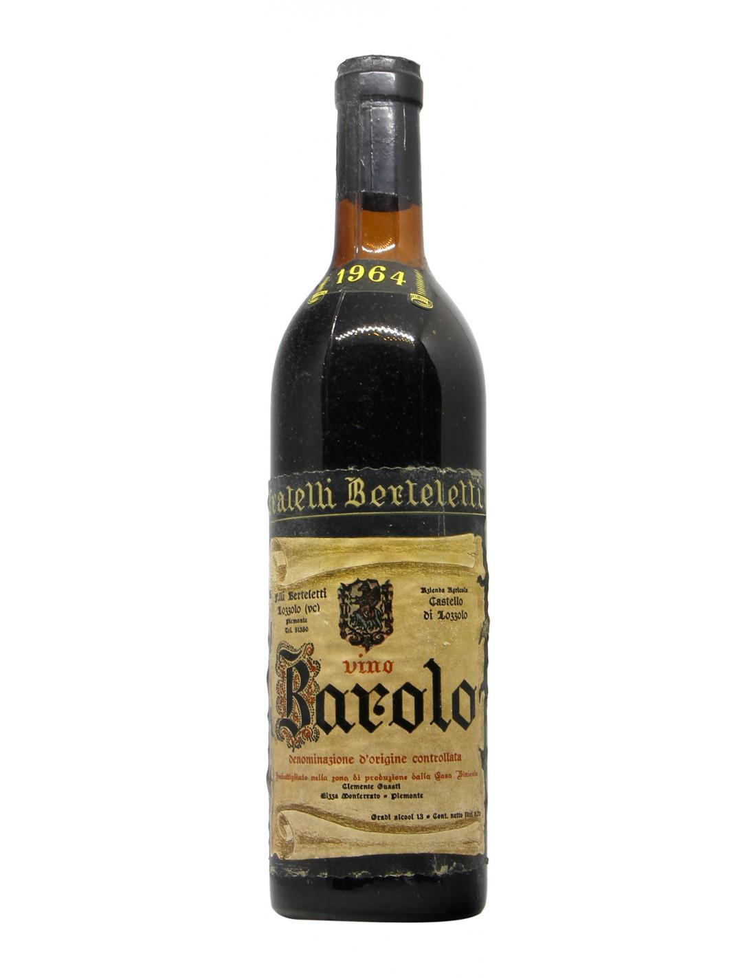 BAROLO 1964 FRATELLI BERTELETTI Grandi Bottiglie