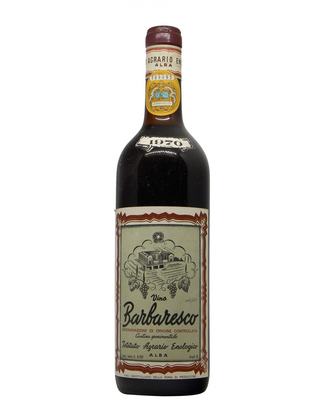 BARBARESCO 1970 ISTITUTO TECNICO AGRARIO ENOLOGICO Grandi Bottiglie