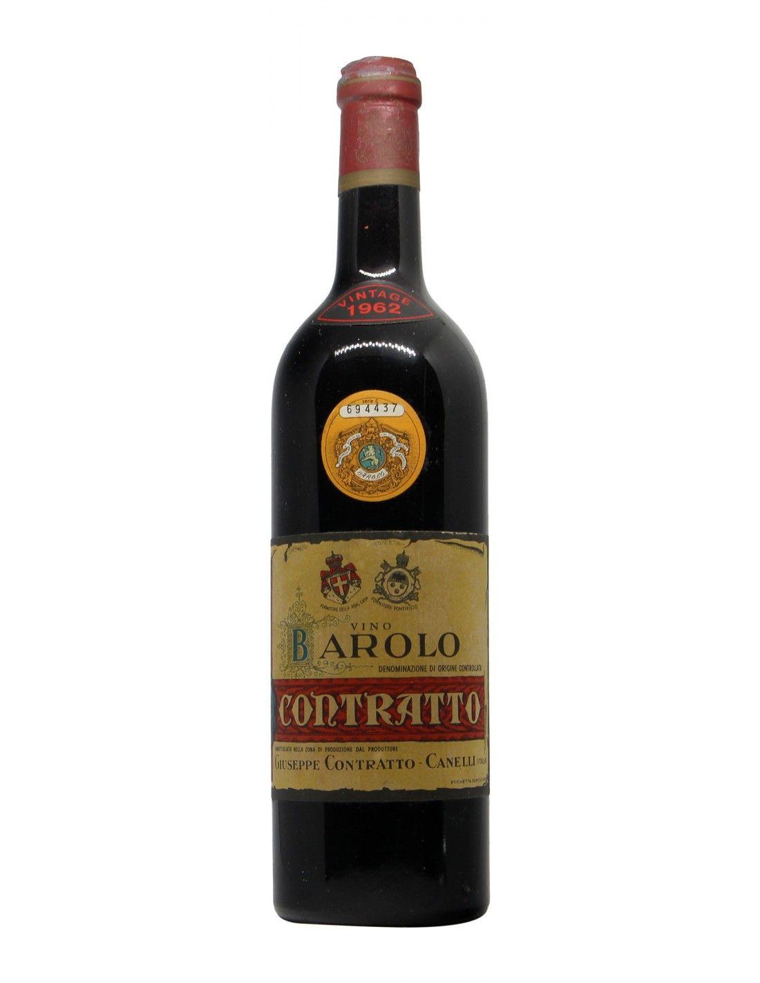 BAROLO 1962 CONTRATTO GIUSEPPE Grandi Bottiglie