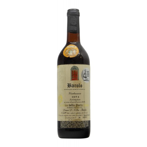 Barolo 1974 CANTINA DELLA PORTA ROSSA GRANDI BOTTIGLIE