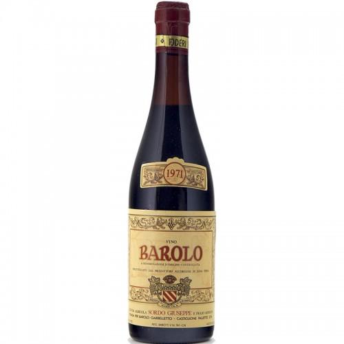 Barolo 1971 SORDO GIUSEPPE GRANDI BOTTIGLIE